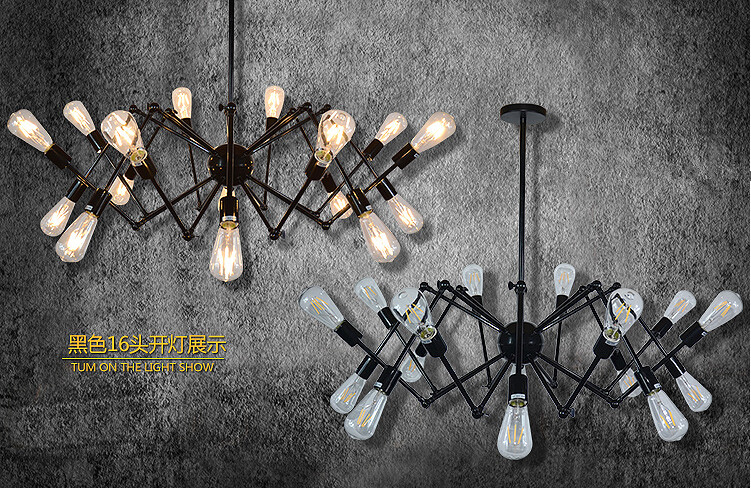 Spider Octopus Edison Loft style Vintage Industrial Pendant Lights For Bar Cafe Home Lighting Hanging Lamp Lustres De Sala tiffany mediterranean style peacock natural shell ceiling lights lustres night light led lamp floor bar home lighting