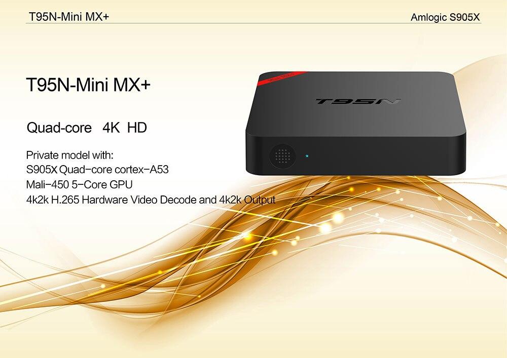 T95N-Mini TV BOX S905X Quad-core 2G+8G Android 6.0.1 KODI 16.0 4K 4.0 WIFI/Internet HD Fully Loaded WIFI Smart TV Box m8 fully loaded xbmc amlogic s802 android tv box quad core 2g 8g mali450 4k 2 4g 5g dual wifi pre installed apk add ons
