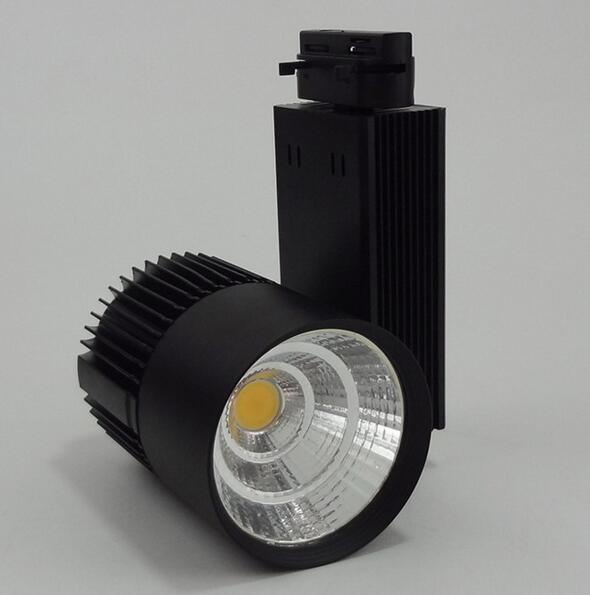 High Power LED Track Light 20W 30w COB Rail Light Spotlight Equal to 200w Halogen Lamp 110v 120v 220v store shop decoration