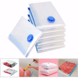 5Pcs Travel Vacuum Storage Bags Space Saving Travel Pack Clothes Suitcase with Pump Hogard OC09