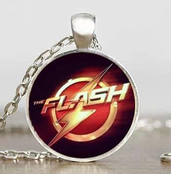 2017 USa Drama the flash Necklace arrow chain 1pcs/lot bronze silver Glass Pendant steampunk mens iron man drop ship toy cosplay