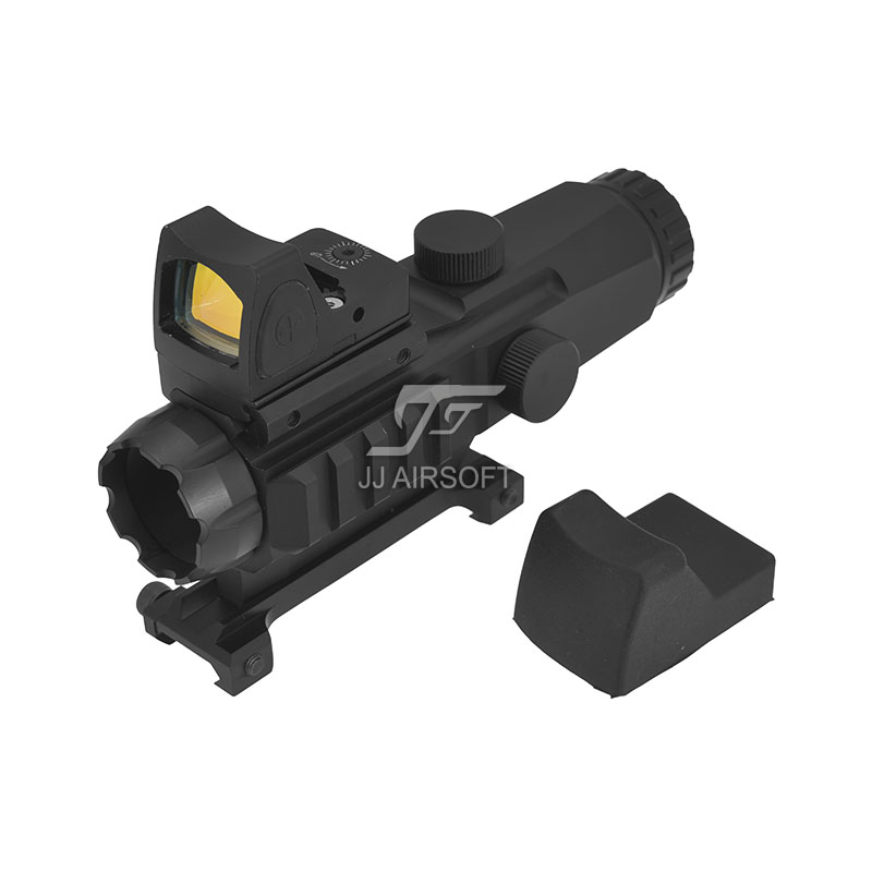 TARGET OPTICS LPHM Mark4 HAMR 3x24 with Red/Green Reticle illumination Rifle Scope with RMR Red Dot (Black/Tan)