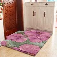 Фиолетовый шерсть большой размер ковры для кафе гостиной спальня прихожая прикроватная прохода искусства, ковры украшения пол ковер польз