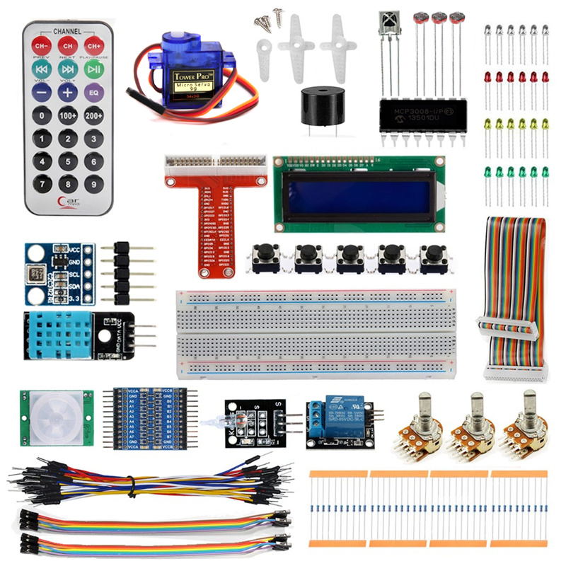 Raspberry Pi Starter Kit Ultimate Learning Suite LCD SG Servo LED Relay