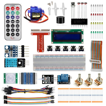 RARE Raspberry Pi 3 Starter Kit Ultimate Learning Suite 1602 LCD SG90 Servo LED Relay Resistors