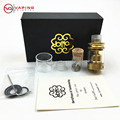 2017 newest CLONE Electronic Cigarette Petri Style 24mm RTA TANK 24K GOLD Vaporizer Atomizer Rebuildable glass drip tip