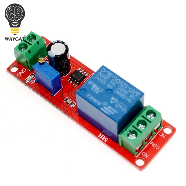 NE555 таймер Регулируемый Модуль время задержки реле модуль DC 12 В реле задержки щит 0 ~ 10 s wavgat