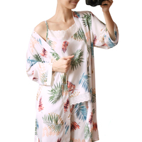 Yomrzl A547 New Arrival Daily Spring And Autumn Women S Pajama Set 3 Piece Home Style