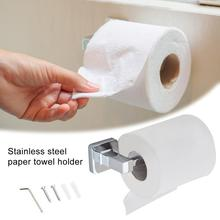 Stainless Steel Toilet Paper Holder Paper Roll Holder Wall Mounted Bathroom Hardware Accessories Rustproof phasat q7 005 wall mounted stainless steel toilet paper holder silver