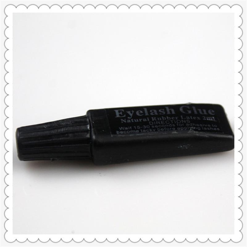 2 Ml Eyelash Glue Plastic Tube Flat Travel Black False Eyelashes Glue Makeup Essential Tool