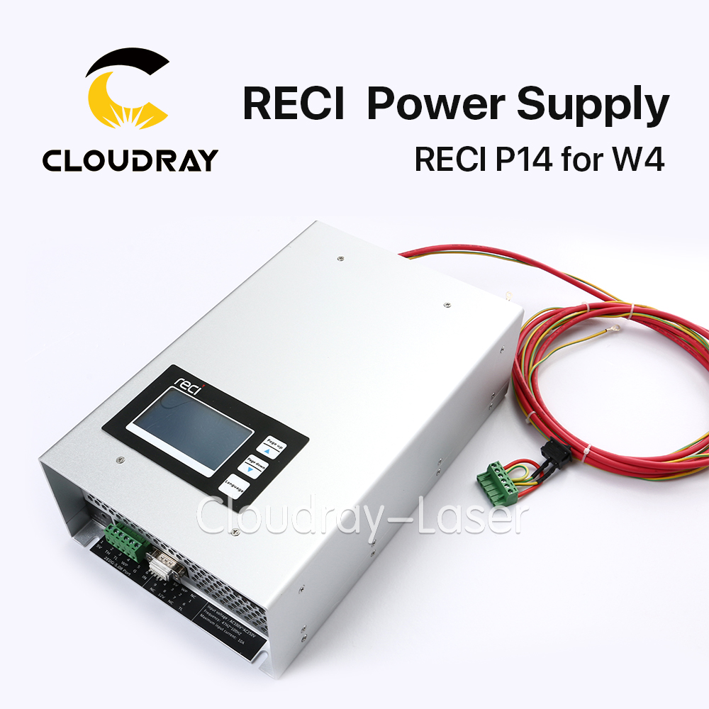 Original Intelligent RECI P14 CO2 Laser Power Supply 100W 110V-220V  for RECI CO2 Laser Tube W4 S4 Z4 80w co2 laser power dy10 for reci laser tube