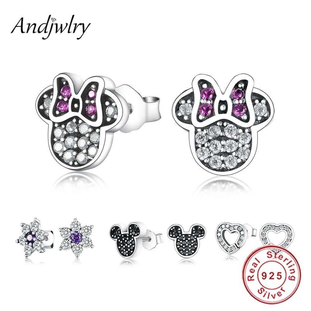 26429f7c4 2018 New Fit Pandora Charms Silver 925 original Stud Earrings Enamel  Earrings For Wedding Women Earring