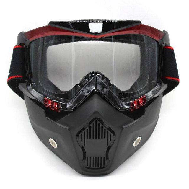 df43b5acc8fe8 Nova Destacável Motocross Óculos Óculos Óculos de Proteção Da Motocicleta  Óculos Viseira Máscara de Esqui Snowboard