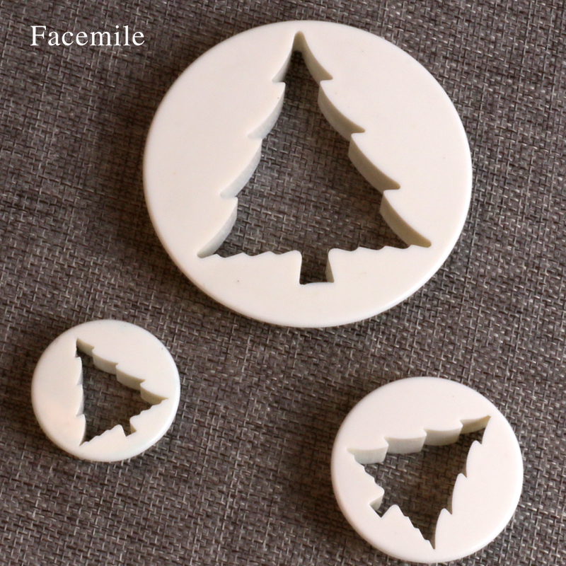 Home & Garden Christmas Tree Shaped Plastic Mold Cookie Gift Mold Jelly Pastry Baking Cutter Mould Tools 03060 Bakeware