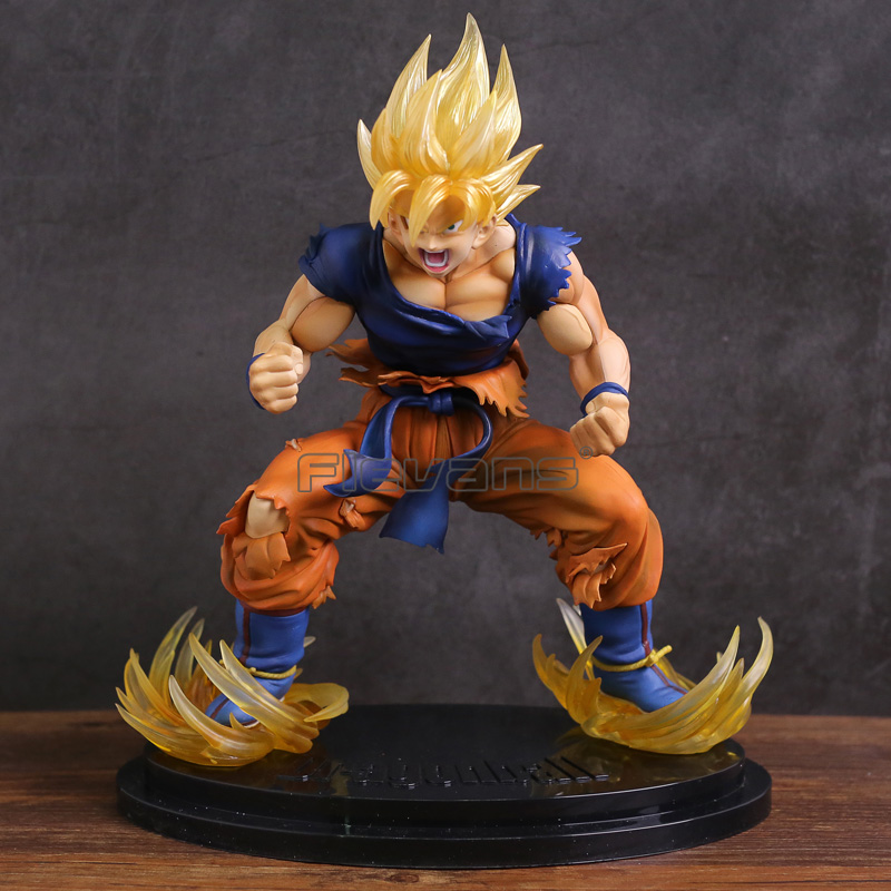 цены на Dragon Ball Kai Super Saiyan Son Goku Statue PVC Figure Collectible Model Toy в интернет-магазинах