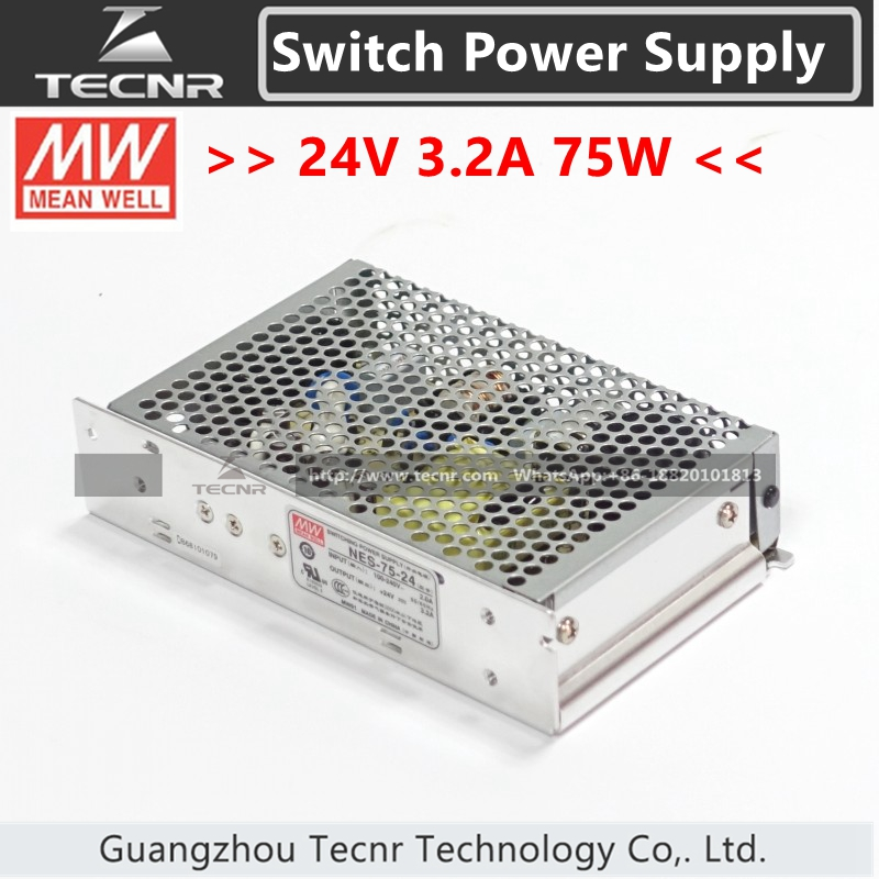 TAIWAN Meanwell 24V 3.2A 75W Switching Power Supply for Laser Controller AWC708C NES-75-24 meanwell 24v 75w ul certificated nes series switching power supply 85 264v ac to 24v dc