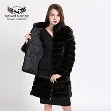 Detachable Fur Coat,100% Real Whole Skin Mink Fur Overcoat,Stand Collar Winter Coats Give Mom Daughter Gift,Women Fur Overcoat