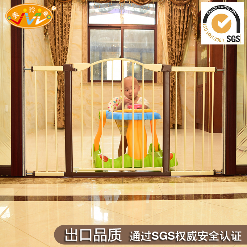 Baby child safety gate bar Baby fence stairs barrier fence pet dog fence pole isolation door