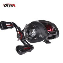 цена на DWIA 10*1BB Metal Baitcasting Fishing Reel 8.1:1 Long Shot Left / Right Hand Fishing Wheel Bait Casting Fishing Reel