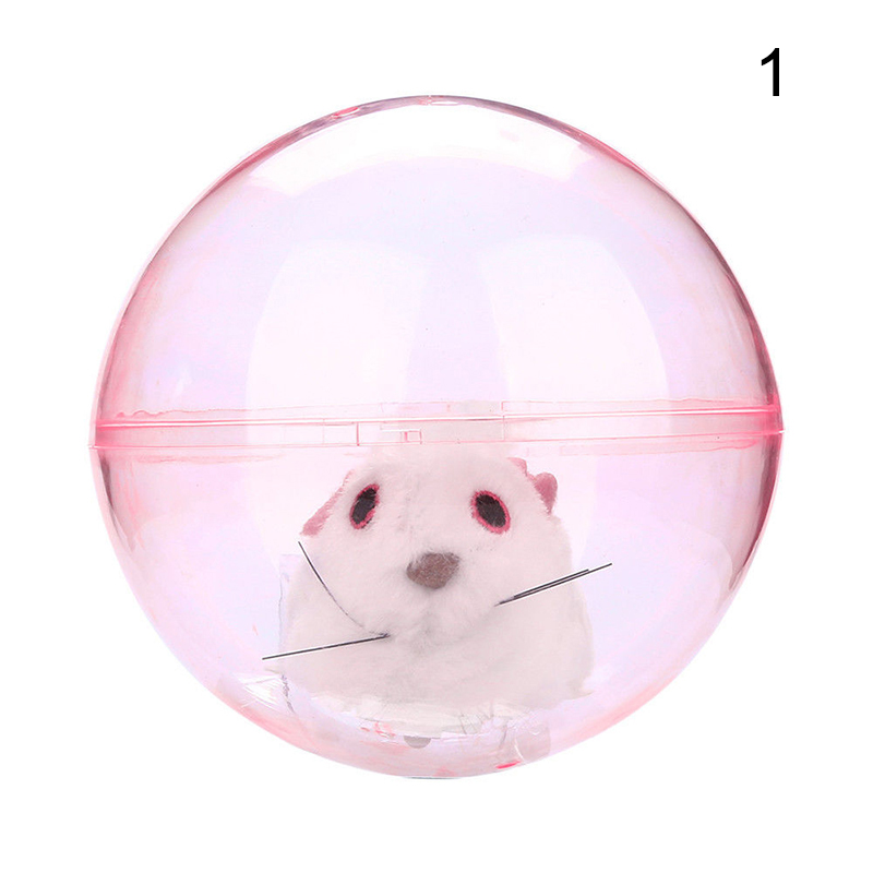 New Running Hamster In Ball Electric Plush Rolling Children Educational Toy