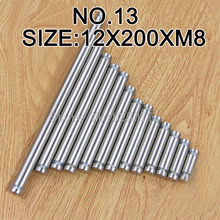 DHL 100PCS Diameter 12x200mm Stainless Steel Double Head Hollow Screw Acrylic Billboard Advertisement Fixing KF984