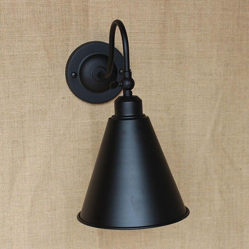 Zeitgenössische Retro Vintage LOFT BLACK Edison Metall Wandleuchte - Innenbeleuchtung - Foto 4