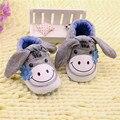Детские prewalker обувь sapatos menina calzado нины sofe sole Slip-on Серый Осел детские тапочки chaussures филь scarpe neonata