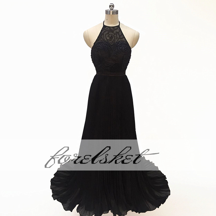6d36e155b1 ⑥Długie czarne suknie wieczorowe 2019 piętro długość suknia dla ...