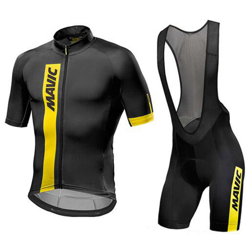 Mavic 2018 pro team men s summer breathable short sleeve cycling jersey kit  ropa ciclismo bicycle bike 421474e24