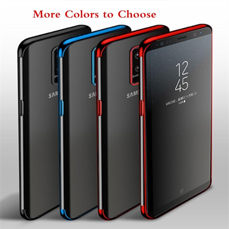 50 stks/partij Electriplating TPU Clear Back Protector Telefoon Geval Voor Samsung S9 S8 Plus Zachte Coque Voor Samsung M10 M20-in Passende hoesjes van Mobiele telefoons & telecommunicatie op AliExpress - 11.11_Dubbel 11Vrijgezellendag 1
