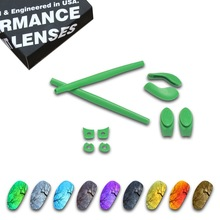 цена на ToughAsNails Polarized Replacement Lenses & Dark Green Ear Socks for Oakley Juliet Sunglasses - Multiple Options