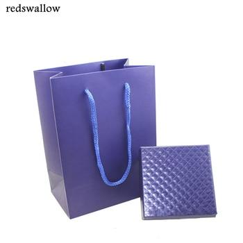 Blue box set  jewelry display for jewelry set high quality diamond pattern box for jewelry handbag for necklace