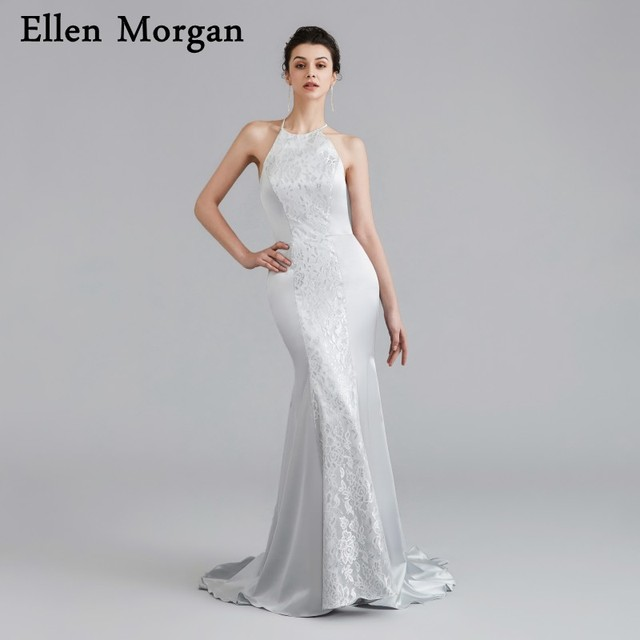 Sexy Silver Backless Mermaid Prom Dresses 2019 for Beautiful Girls Long Runway Fashion Formal Evening Gowns for Birthday Party