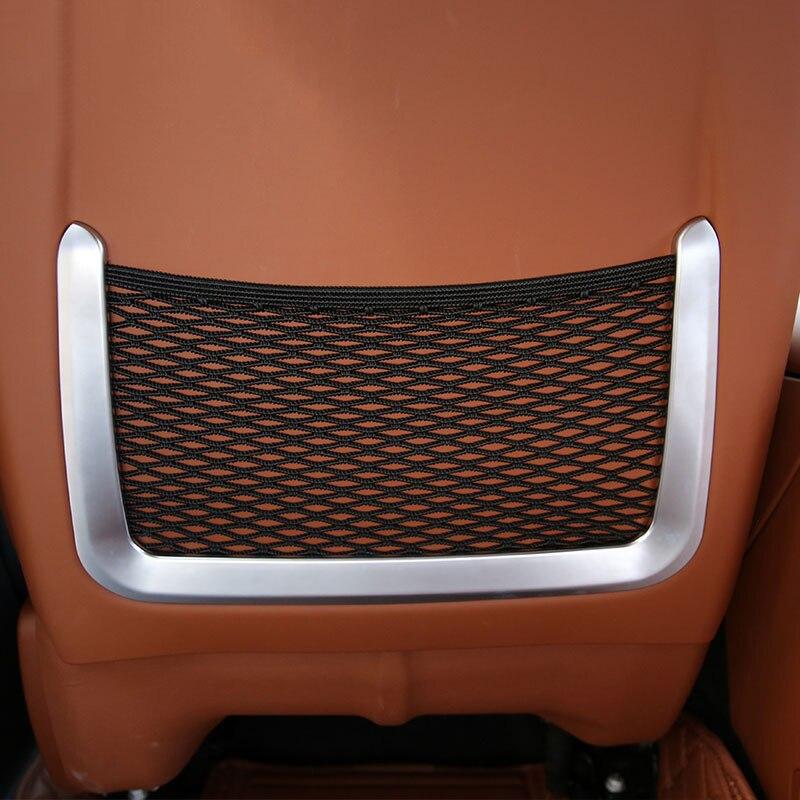 цена на Car Rear Back Seat Net Bag Frame Cover Trim Fit For Maserati Ghibli 2014-2017 For Levante 2016 Car Accessories ABS Chrome 2pcs