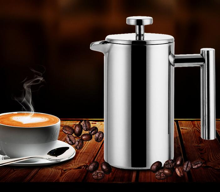 350ml Coffee Machine Cafetiere French Press With Filter Doublewall Stainless Steel Coffee Plunger French Press Tea Maker Handy