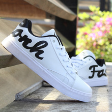 Spring and summer youth male casual shoes breathable white Korean version of the trend of students calzado deportivo plate shoes