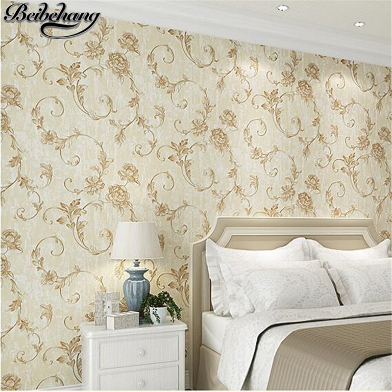 beibehang Nonwovens Bedroom Wallpaper Warm Living Room American Pastoral Wallpaper Stereo Floral Retro papel de parede beibehang nonwovens healthy fashion