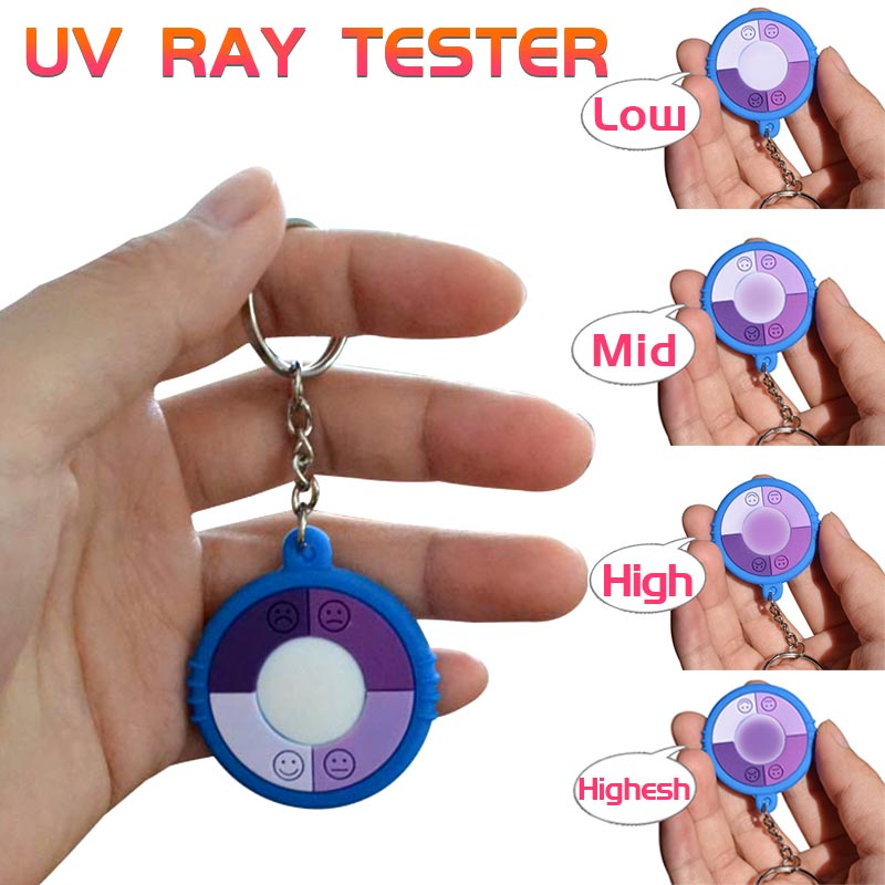 3pcs /Lot PVC Test Ultraviolet Intensity With Key Chain Test Solar UV Tester Solar Monitor Tester UV Monitor Sunshade Products image