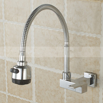 Free shipping 360 degree rotating single cold wall tap basin sink wall mounted faucet cold faucet Water Tap Single Cold Faucet фото