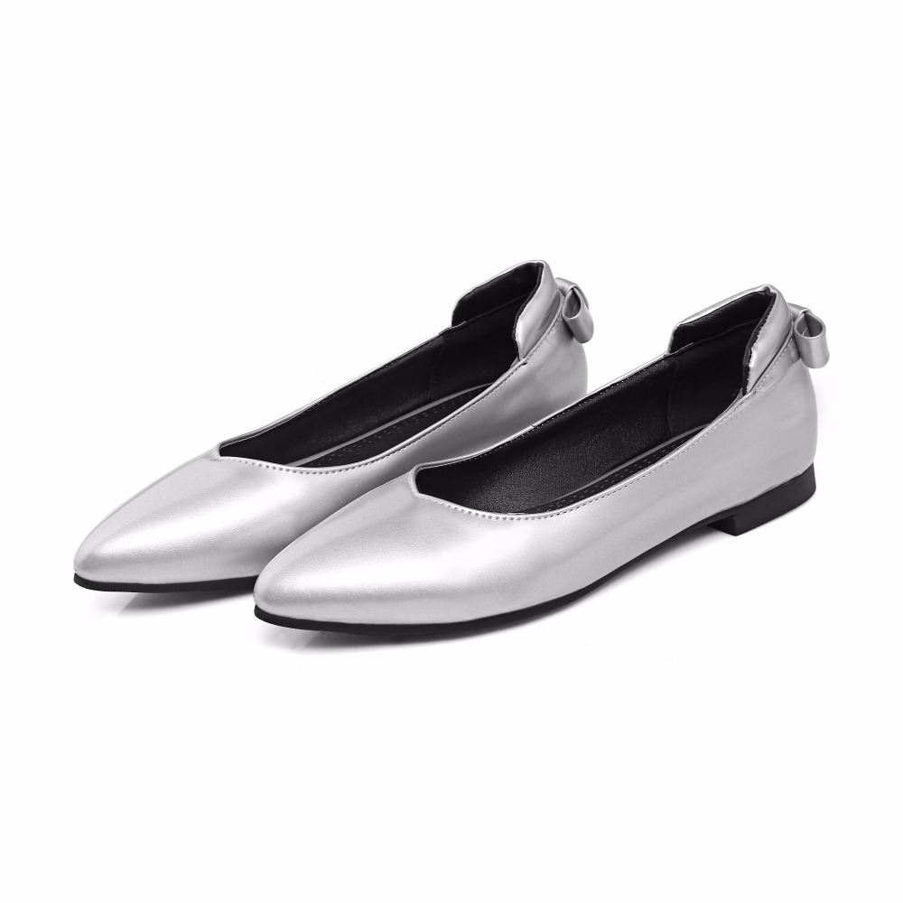 LANYUXUAN 2017 New Big Size 33-46 Ladie's Spring/ Autumn Low Heel Shoes Women Sweet Causal For Girls Pointed toe Flat shoes J-6 2017 new spring autumn big size 11 12 dress sweet wedges women shoes pointed toe woman ladies womens