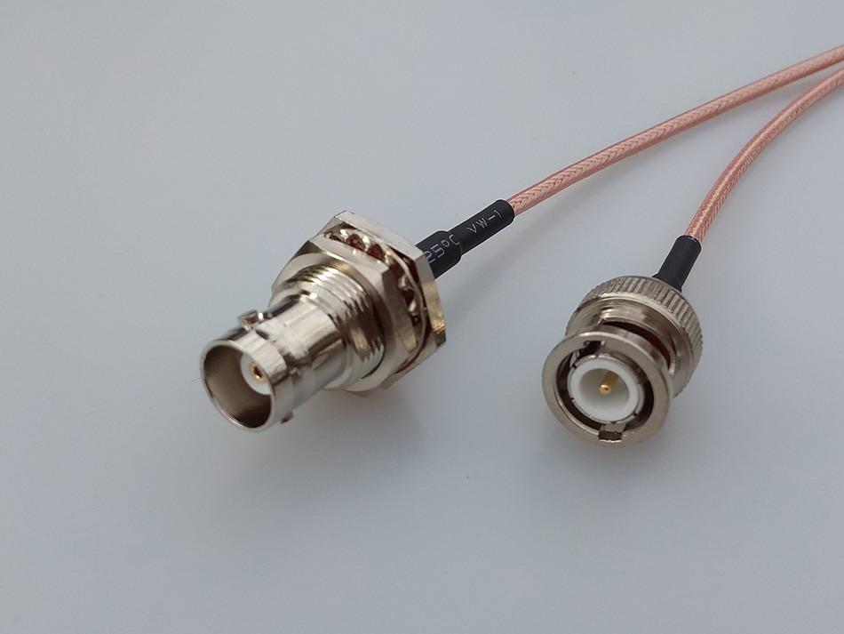 "RG316 6/"" RCA male to N plug cable TV AV radio audio video camera CCTV RF coaxial"