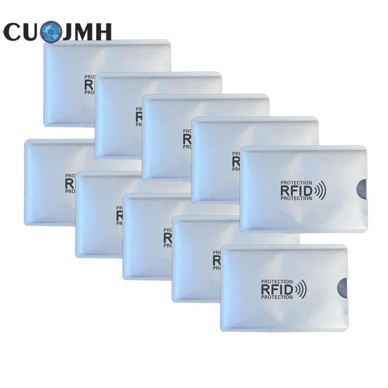 10 Pcs Rfid Card Sleeve Anti Degaussing Bank Card Holder Nfc Anti Theft Brush Identification Card  Anti Magnetic Card Sleeve