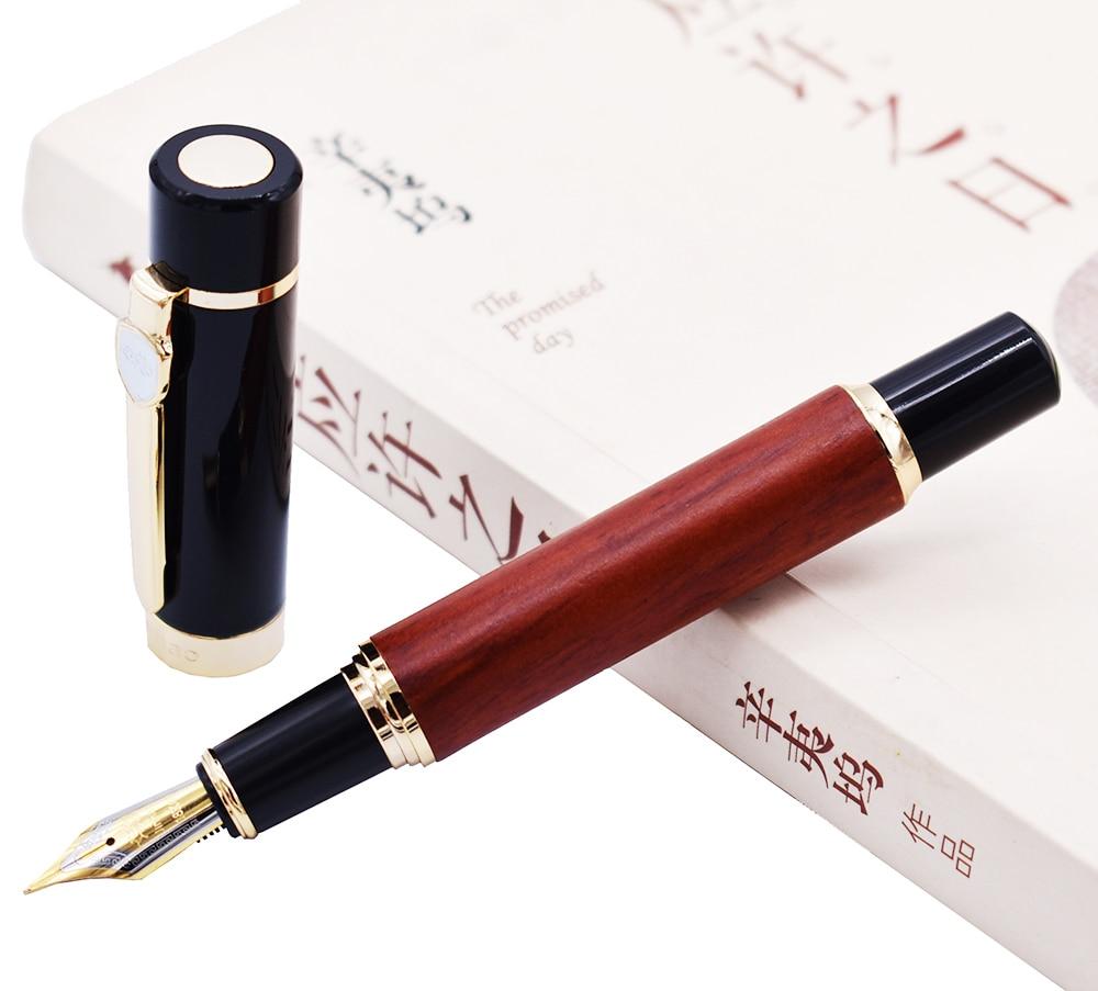 Jinhao Fountain Pen Natural Redwood Barrel Design , Medium Nib Writing Gift Pen Big Size Business Office Home School Supplies