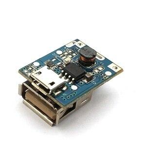 Image 2 - 1 Uds. Módulo de alimentación de 5V de aumento Placa de protección de carga de batería de litio Boost Converter pantalla LED USB para cargador DIY 134N3P