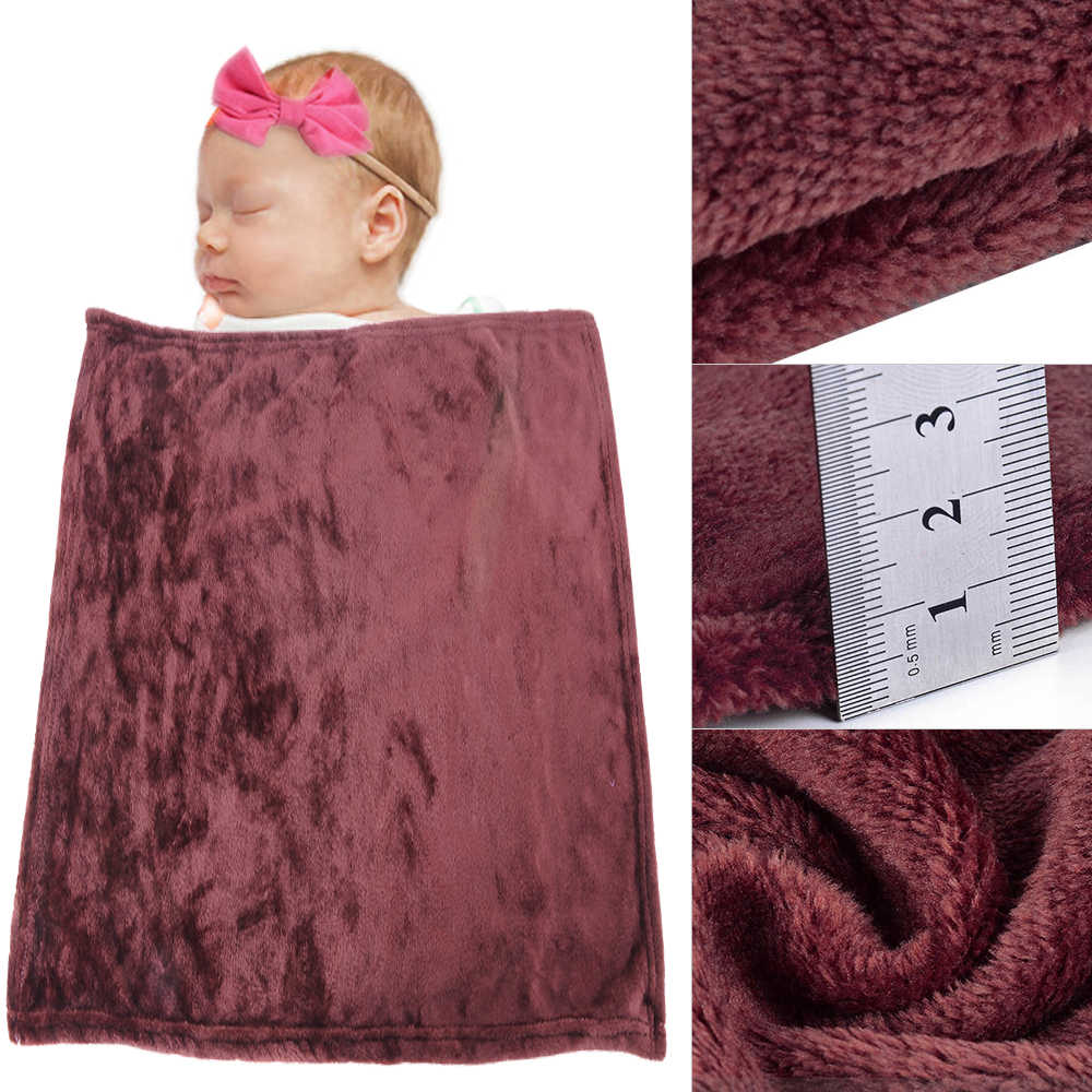Juneiour Brown Soft Baby Sleeping Blankets Throw Kids Blanket Warm Coral Blankets Flannel Beds/Plane/Sofa Cover Sherpa Bedspread