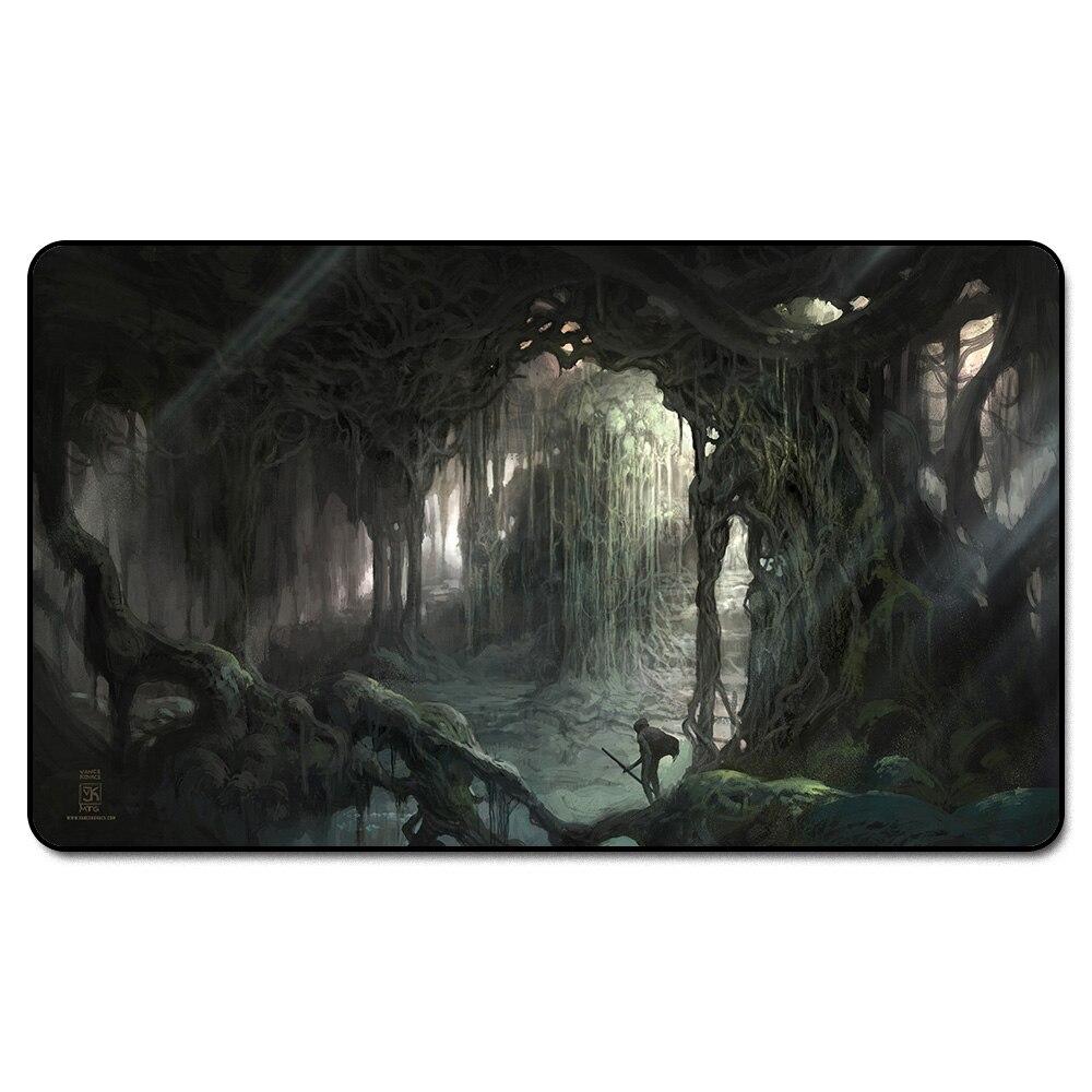 ( Verdant Catacombs PLAYMAT ) Many Choice Magic Game Custom Playmat,Board Games MGT Play Mat,Custom Big Mousepad with Free Bag