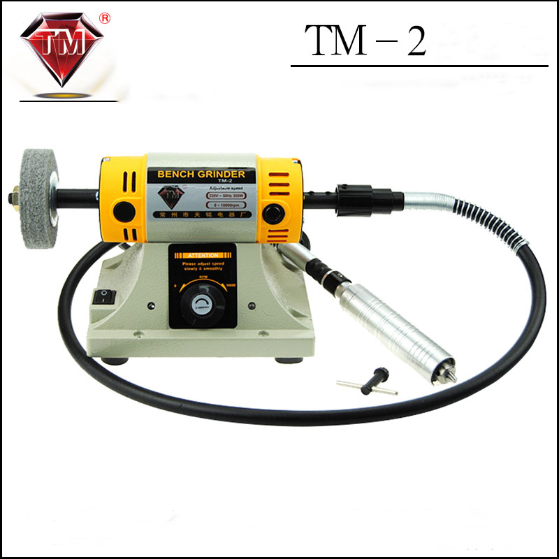 цена на Electric grinding wheel cutting machine TM-2 Woodworking amber sander jade carving engraving polishing machine