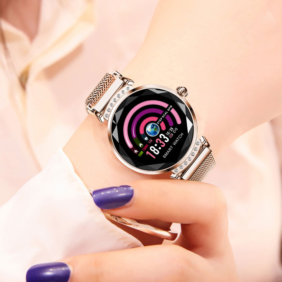 Image 3 - SCOMAS Newest Fashion H2 Smart Watch Women 3D Diamond Glass Heart  Rate Blood Pressure Sleep Monitor Best Gift SmartwatchSmart Watches
