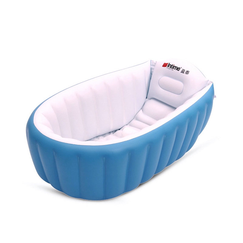 Baby Bathtub Inflatable Bathing Tub Collapsible Air Swimming Pool Portable Thick Shower Basin Soft Cushion With Inflator Pump