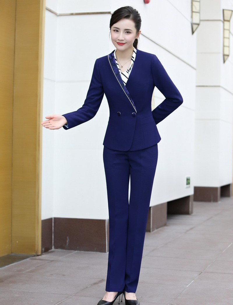 Hot Sale Fashion Ladies Purple Blazer Women Business Suits Formal